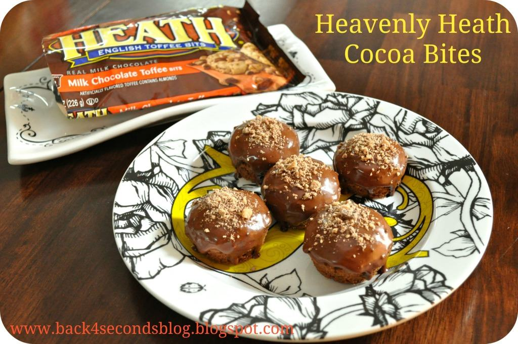 Heavenly Heath Cocoa Bites #toffee #chocolate #heath #mini