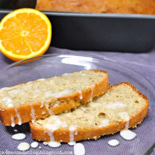 Banana Orange Bread by Back For Seconds #breakfast #quickbread #banana #orange #glaze
