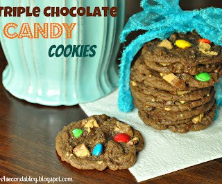 Triple Chocolate Candy Cookies