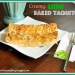 Creamy Lime Baked Taquitos