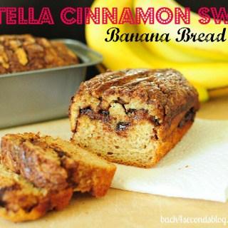 Skinny Nutella Cinnamon Banana Swirl Bread