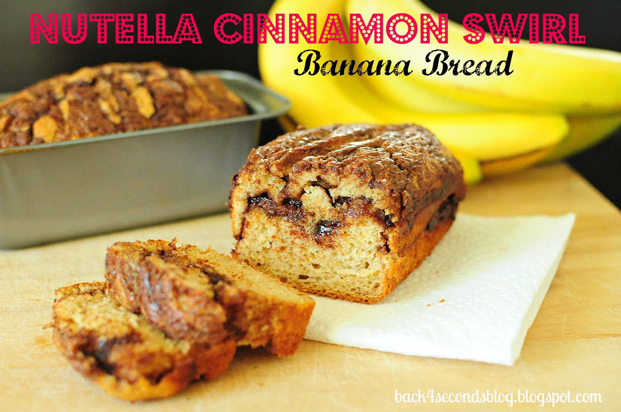 Skinny Nutella Cinnamon Banana Swirl Bread @BackForSeconds #nutella #bread #banana https://backforseconds.com