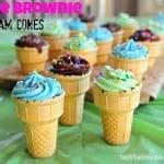 Fudge Brownie Ice Cream Cones