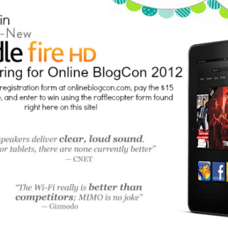 Kindle Fire HD GIVEAWAY and Online BlogCon