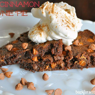 Spicy Cinnamon Fudge Brownie Pie