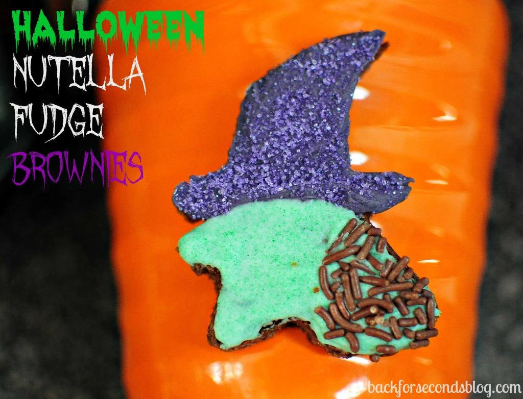 halloween nutella fudge brownies