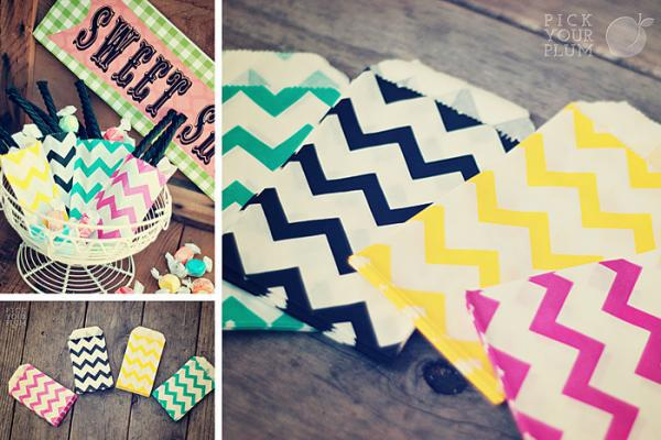 Pick Your Plum, Giveaway Chevron Goodie Bags