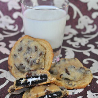 Oreo and Cookie Dough Cookies aka Franken-cookies