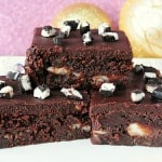 Peppermint Patty Stuffed Fudge Brownies