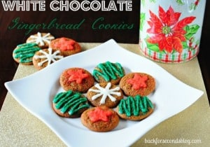 Chewy White Chocolate Gingerbread Cookies