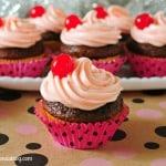 Merry Cherry Chocolate Cupcakes