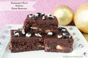 Peppermint Patty Stuffed Fudge Brownie