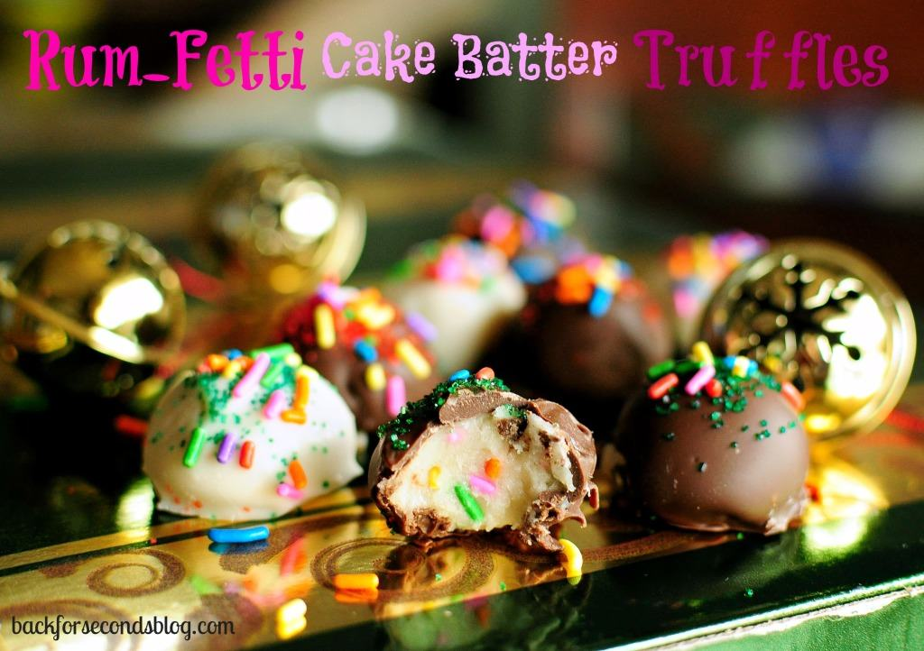 Rum-Fetti Cake Batter Truffles by Back For Seconds #truffles #cakebatter #rum