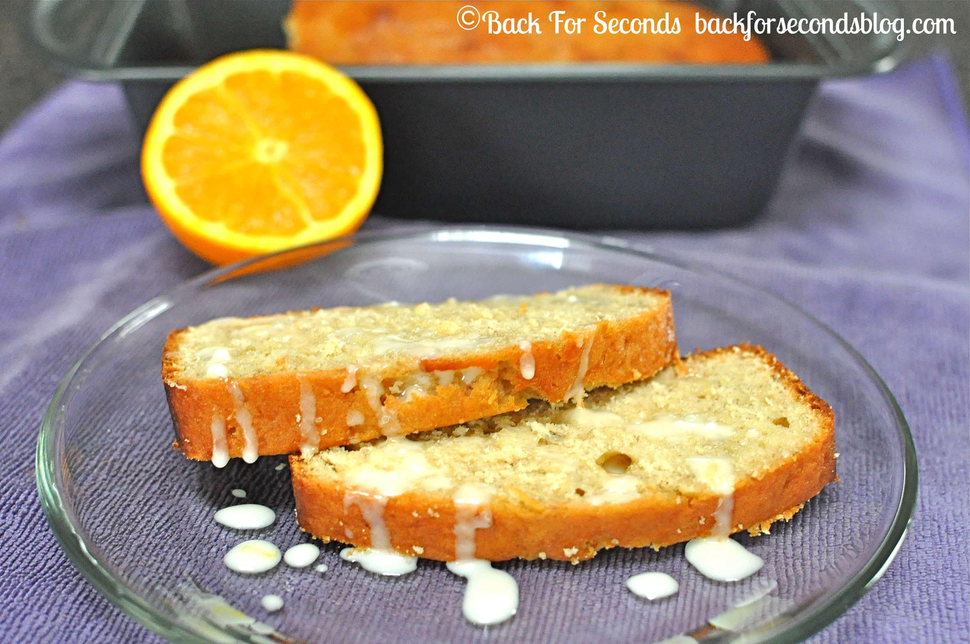 Banana Orange Bread by Back For Seconds  #breakfast #recipe #quickbread #banana #orange #glaze
