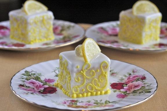 Lemon Orange Glazed Petits Fours