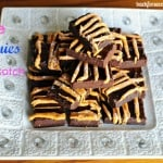 SKINNY Fudge Brownies with Butterscotch Drizzle @BackForSeconds #skinny #dessert #chocolate #easy #healthy #diet