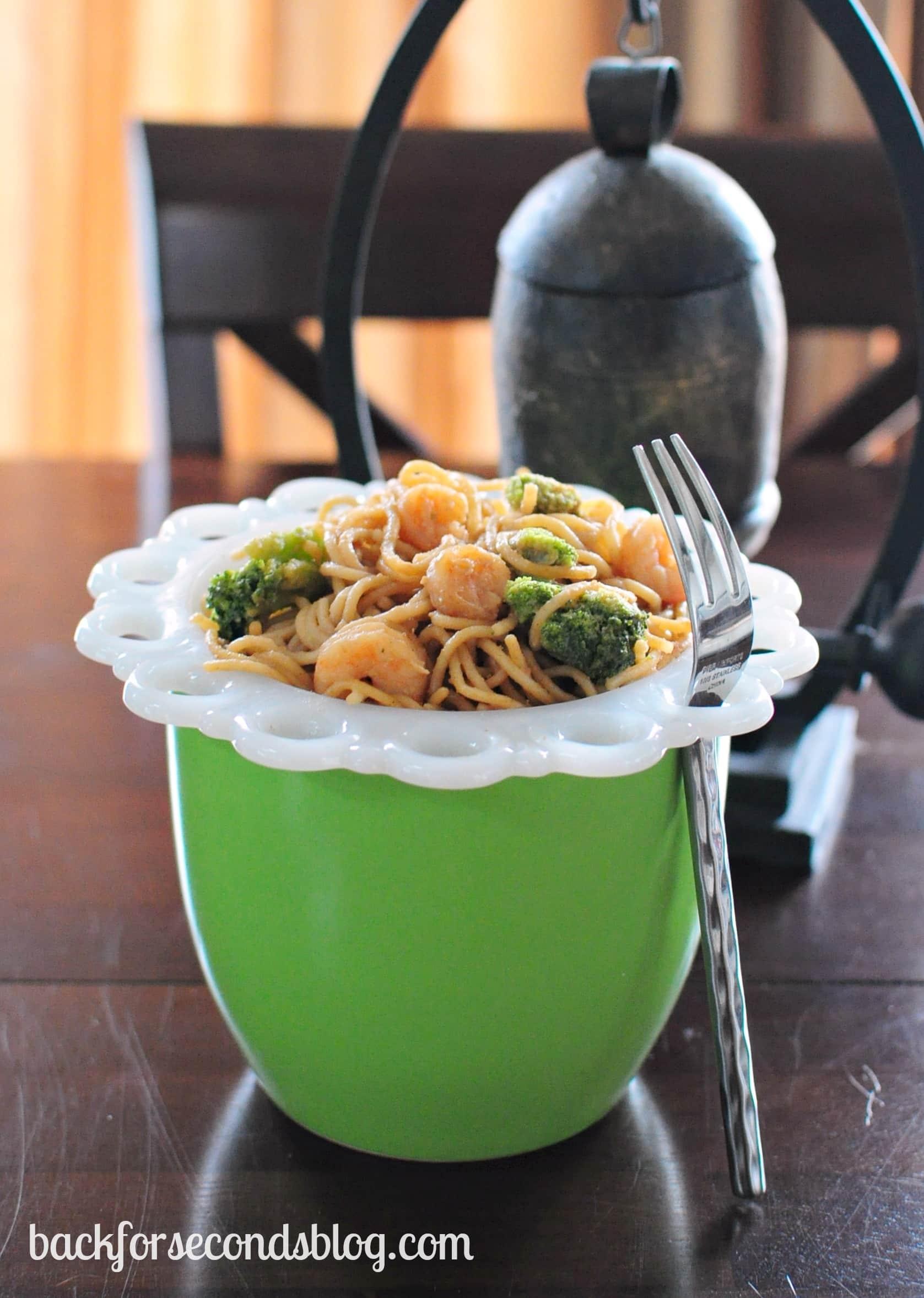 Skinny Thai Shrimp Pasta