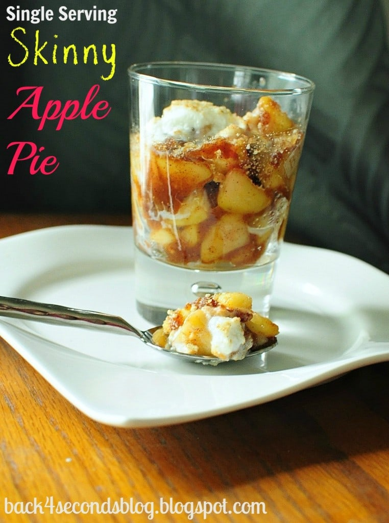 Skinny Single Serving Aple Pie @BackForSeconds #singleserving #applepie #healthy #skinny