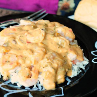 Creamy Chipotle Shrimp and Rice @BackForSeconds #easydinner #shrimp #chipotle
