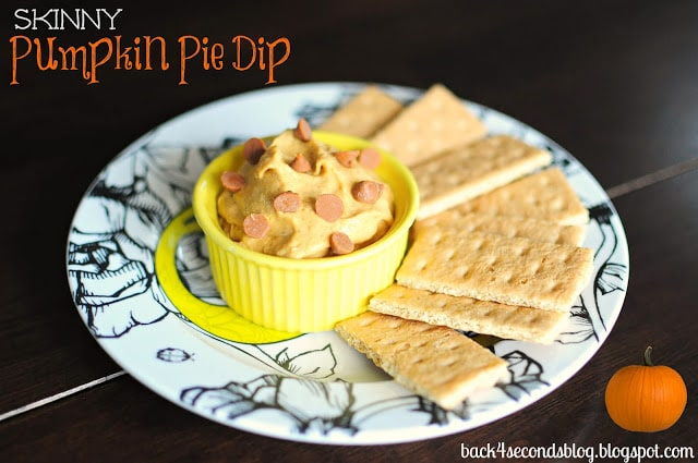 Skinny Pumpkin Pie Dip http://backforsecondsblog.com #healthy #snack #pumpkin #dip #pie