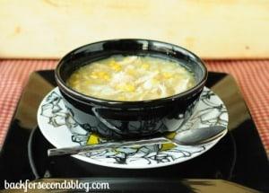 Skinny Crock Pot Chicken and Veggie Chowder
