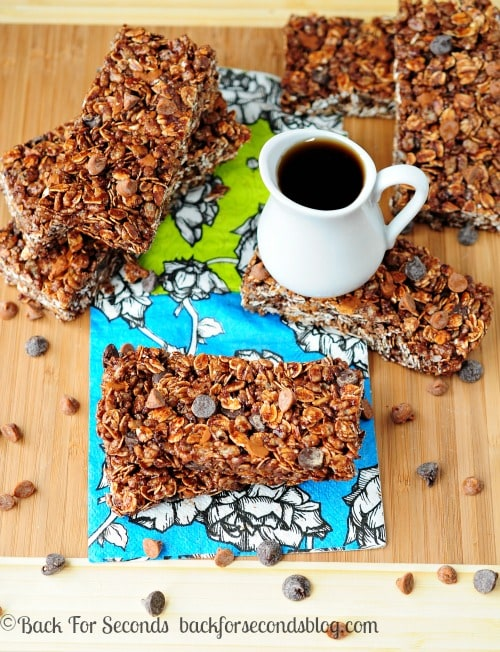 Homemade Granola Bars Maple Chocolate Cinnamon Bars