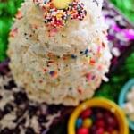 Coconut Funfetti No Bake Cake