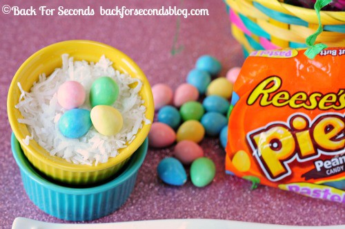 Reeses Pieces Easter Eggs and Coconut