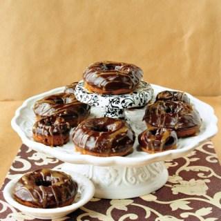 Salted Caramel Mocha Baked Donuts
