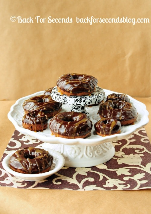 Salted Caramel Mocha Donuts http://backforseconds.com  #recipe #chocolate #donuts #starbucks
