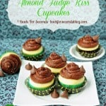 Almond Fudge Kiss Cupcakes