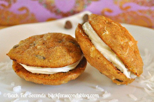 Chocolate Chip Carrot Cake Whoopie Pies - YUM