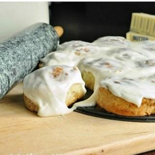 Easy No Yeast Cinnamon Rolls