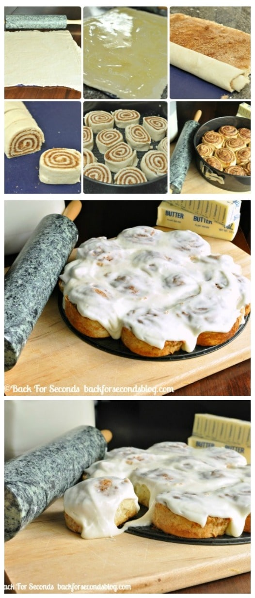 Easy No Yeast Cinnamon Rolls Back For Seconds