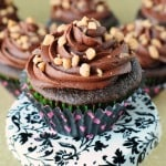 Mocha Toffee Fudge Cupcakes
