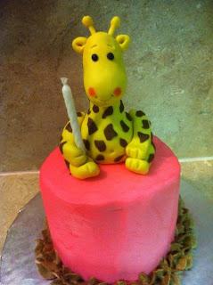 giraffe smash cake