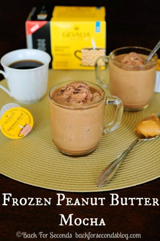Frozen Peanut Butter Mocha's - INCREDIBLE!  http://backforsecondsblog.com  #recipe #frappuccino #peanutbutter #chocolate
