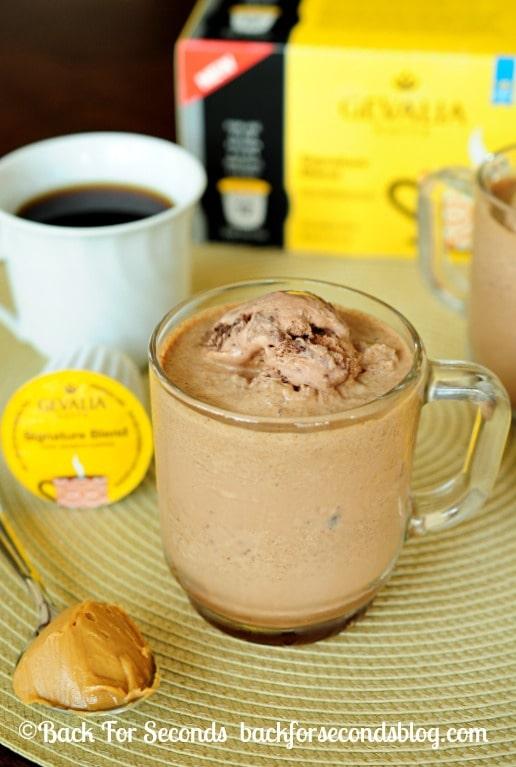 Homemade Frozen Peanut Butter Mocha