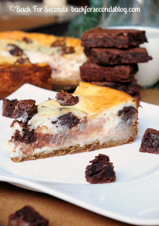 Brownie Stuffed Cheesecake Recipe