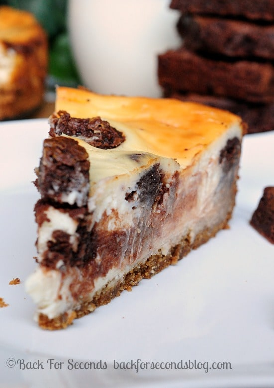 Brownie Stuffed Cheesecake with a Peanut Butter Cookie Crust - Back ...