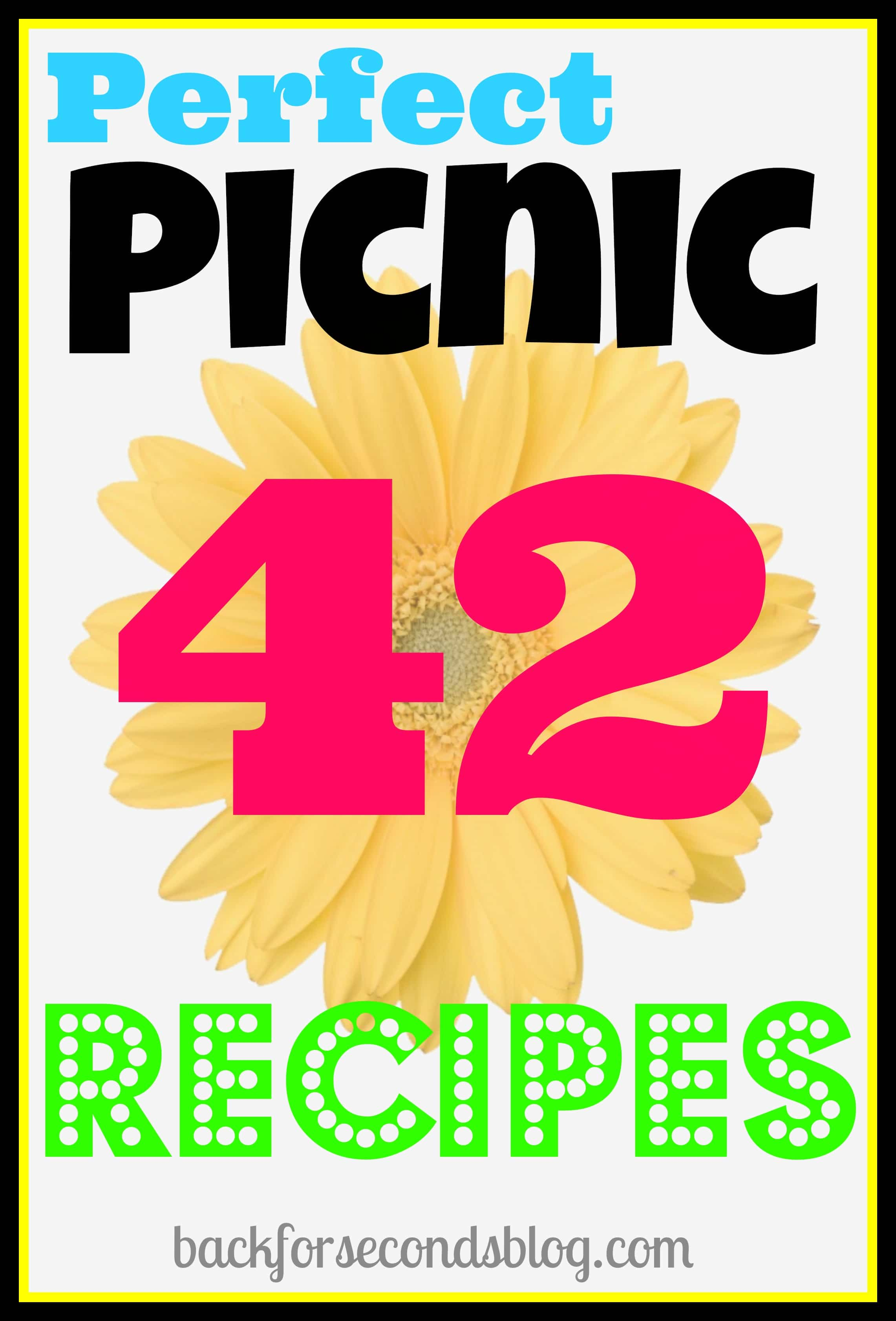 42 Perfect Picnic Recipe Ideas!!   http://backforseconds.com #picnic #recipes #camping