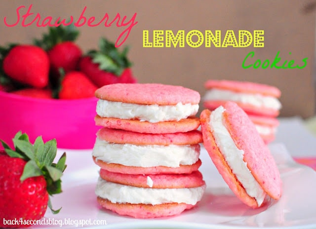 Strawberry Lemonade Cookie Pies