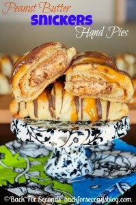 Easy Peanut Butter Snickers Hand Pies