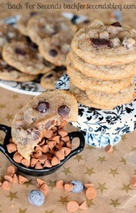 Chewy Cinnamon Cookies with Dark Chocolate Chips
