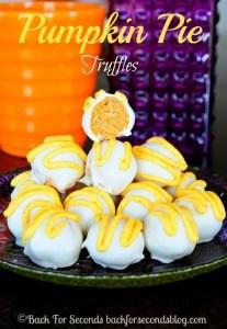 Easy Pumpkin Pie Truffles