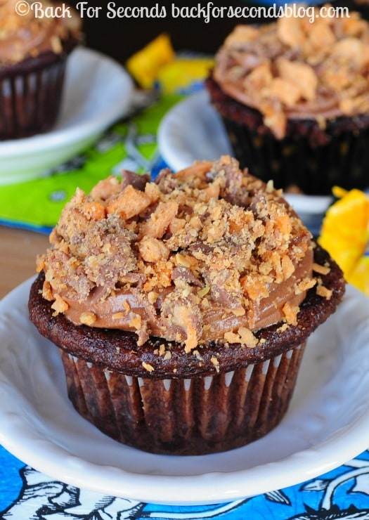 Homemade Butterfinger Cupcakes