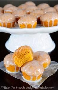 Glazed Cinnamon Pumpkin Spice Mini Muffins