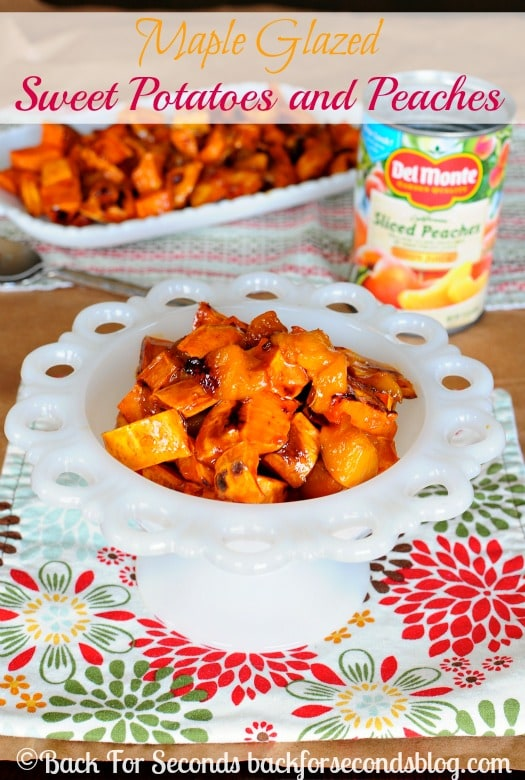 Maple Glazed Sweet Potatoes and Peaches - Tastes like candy and it's ...