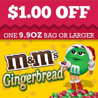 Gingerbread M&Ms Coupon