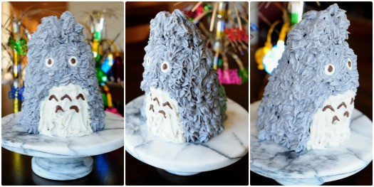 Totoro Cake  http://backforsecondsblog.com #totoro #chocolatecake #dessert #party